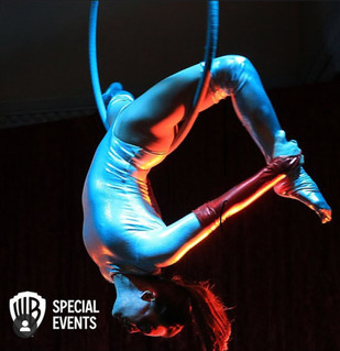 Aerialogists perform for WB Special Events