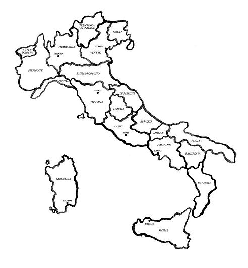Pizza 72 map of Italy