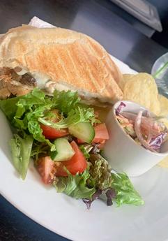 Ciabatta and salad