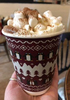 Takeaway hot chocolate