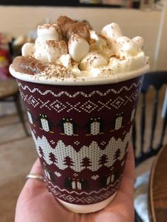 Takeaway hot chocolate