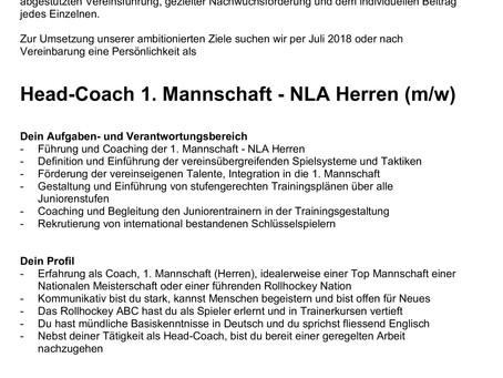 Head-Coach 1. Mannschaft - NLA Herren