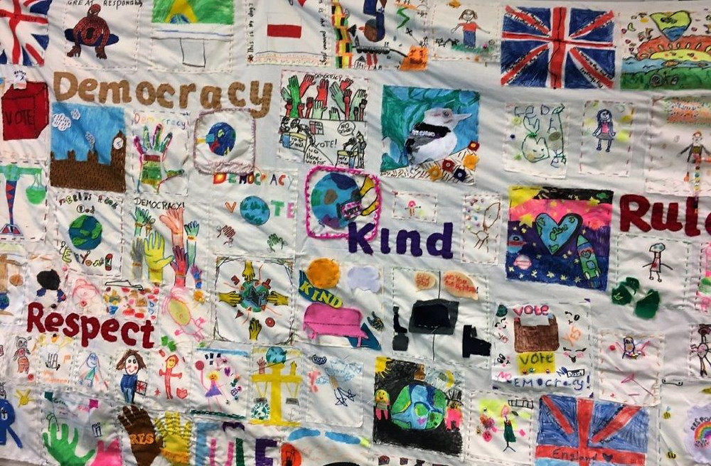 Queens Park tapestry democracy