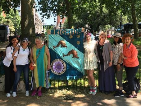 Suffragette Brighton banner