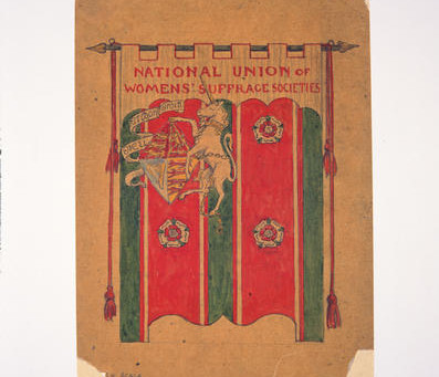 Stitching banners for freedom – the Suffragettes