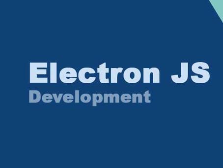 Electron - Desktop App builder with JavaScript