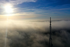 Signal Tower in Fog