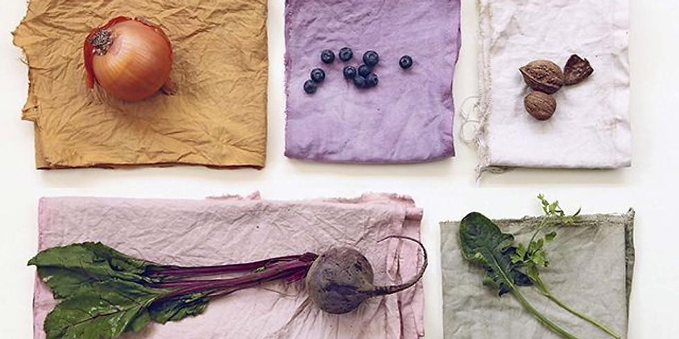 Taller de teñido textil con residuos