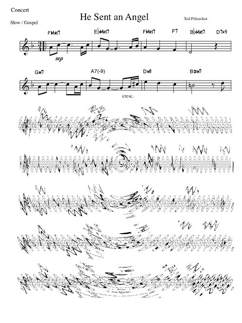 """He Sent An Angel"" lead sheet"
