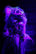 Sal'manella the Sea Monster built for The Greatest Pirate Story Never Told   live hand moving mouth puppet