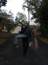 Horseman's Hollow haunted attraction (Behind the scenes shot)   Jenny was the puppet captain for the 2014 Season.