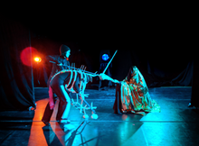 Unicorn Afterlife by Justin Perkins   (That's Jenny in the Unicorn!)  Performed at Dixon Place May 2021 Workshop iterations 2018-2019 at Henson Carriage House PATCH Residency, Center at West Park, and Flame Con