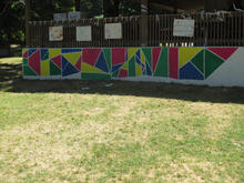 Collaborative mural with kindergarteners through 2nd graders.
