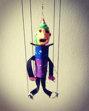 Czech style marionette made by a 6th grader.