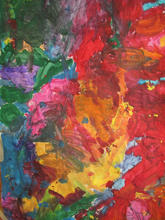 Collaborative painting by kindergarteners