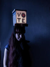 Vote (Shadow Hat)   Made of recyclable materials