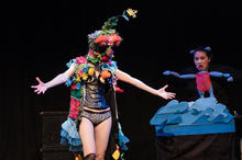 Mother Nature Monster  Performed at Puppet Playlist Days of the Week   By Jenny Hann   Puppeteers - Christine Schisano, Mery Cheung, and Jenny Hann