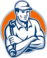 The Plumber Man logo restaurant service
