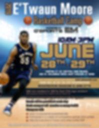 2019 E'Twaun Moore Basketball Camp Flyer