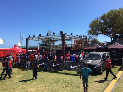 TUNGSTEN BUILDS A CUSTOM FOOTBALL CAGE FOR BPL LIVE IN CAPE TOWN