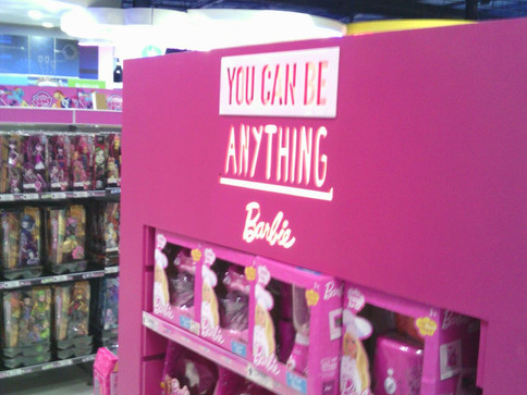 Barbie and Hot Rod Point of Sale Displays Installed at Toys R Us Gateway