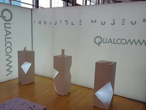 TUNGSTEN 3D-PRINTS OBJECTS AND BUILDS PLINTHS FOR QUALCOMM INVISIBLE MUSEUM