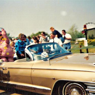 Noel Edmonds and Mr Blobby in 1995