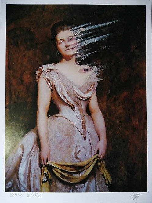 Victoria Smudged by Dominic Murphy Art Print