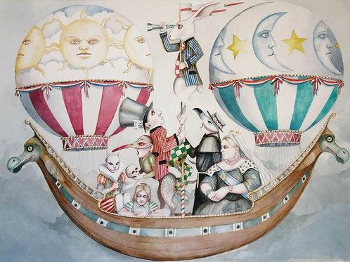 Alice in Wonderland Hot Air Balloon