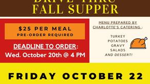 Drive-Thru Fall Supper