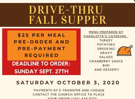 Drive-Thru Supper UPDATE