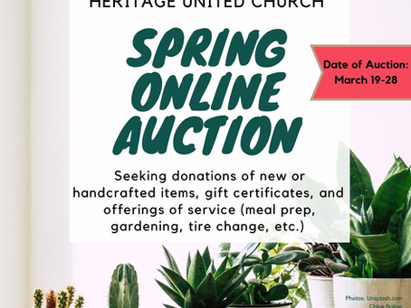 Items for Spring Online Auction