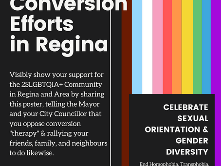 "Ban Conversion ""Therapy"" Now in Regina"