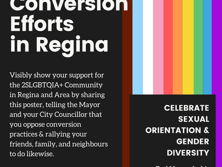 """Act now to ban Conversion """"therapy"""" in Regina!"""