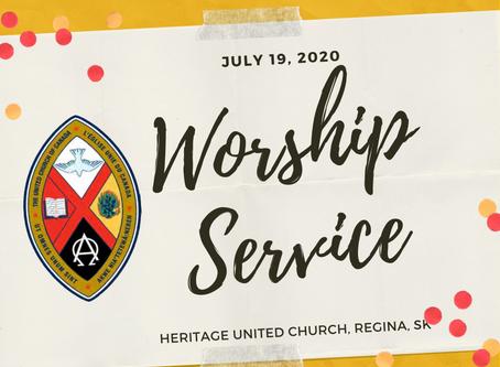 Worship Service - July 19, 2020