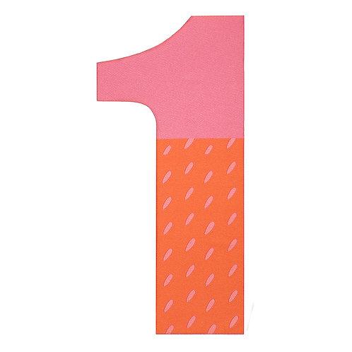"""""""Zahlen pink"""" Bügel-Sticker FabFab"""