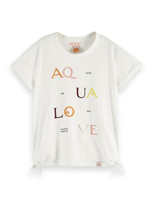"""AquaLove"" Scotch & Soda T-Shirt Mädchen"
