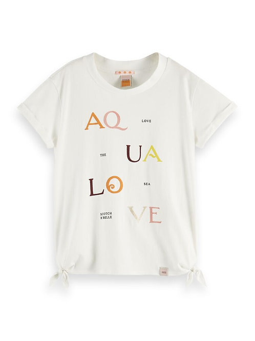 """AquaLove"" Scotch & Soda T-Shirt Mädchen"