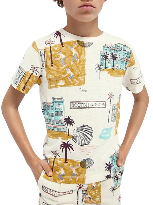 """Beach"" Scotch & Soda T-shirt Jungs"