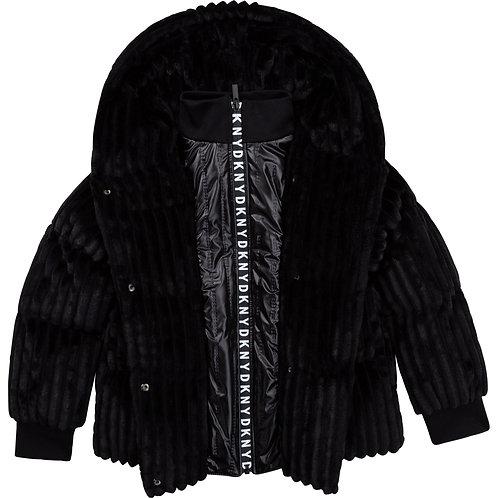 """Dark Black"" Mädchen Mantel DKNY"