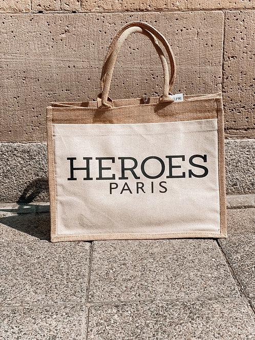 """Heroes Paris"" Jutetasche Nil & Mon"