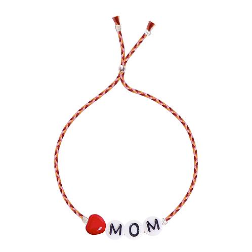 """Glass Letter Mom"" Armband Sorbet Island"