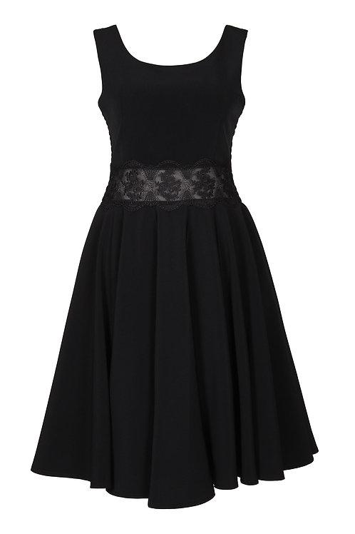 Krepp Kleid mit Spitze - G.O.L.
