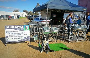 Slideaway Australia display at 2015 Bendigo Sheep Show