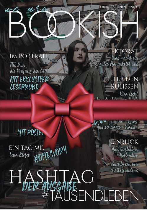 GESCHENKGUTSCHEIN - WE ARE BOOKISH - FRÜHLING 21 inkl. Versand