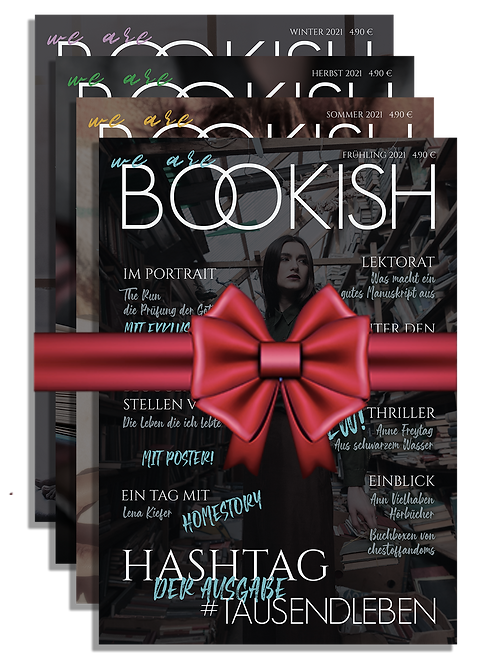 GESCHENKGUTSCHEIN (zum selbst Drucken) - WE ARE BOOKISH - ABO 2021 inkl. Versand