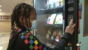 Book vending machine has Martinsville students excited about reading