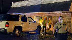 SUV crashed into building in Collinsville Friday night