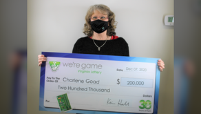 Bassett woman wins $200k from lottery while buying snack for her pet lizard