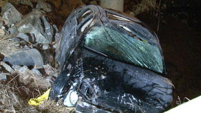 Man killed after car hits guardrail, overturns in Henry County